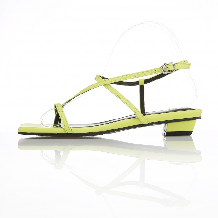Strappy Flat Sandals MD20SS1064 Neon-Yellow