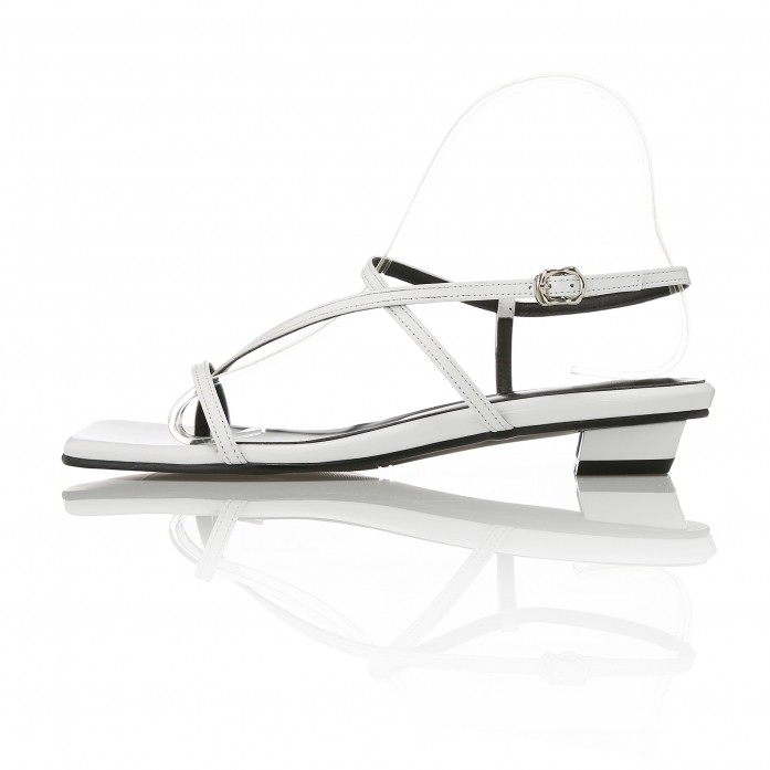 Strappy Flat Sandals MD20SS1064 White