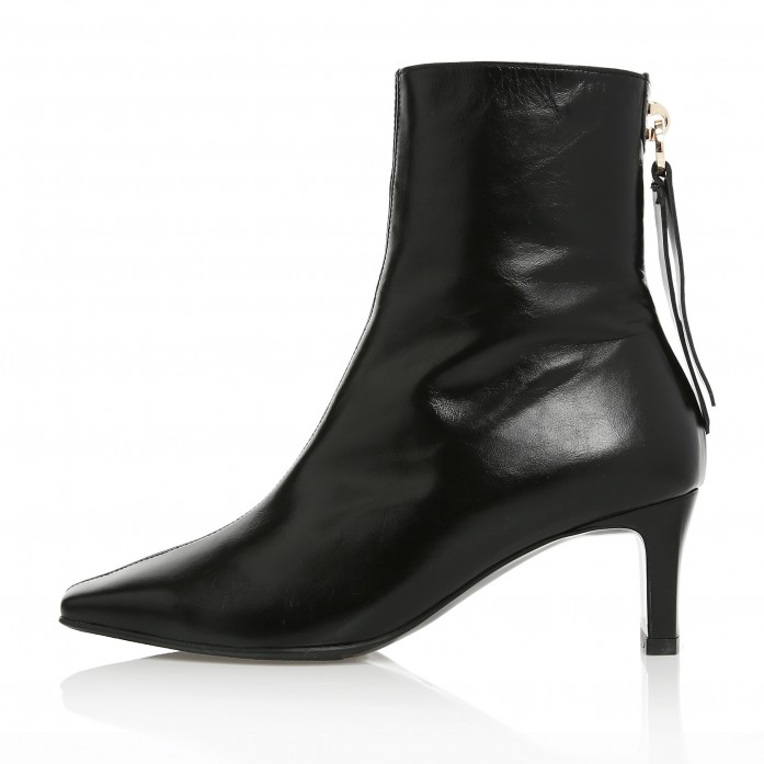 Square Toe Point Ankle Boots MD20FW1070-Black