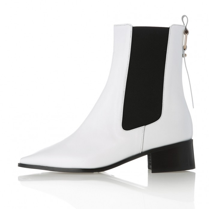 Square Point Chelsea boots MD20FW1073-White