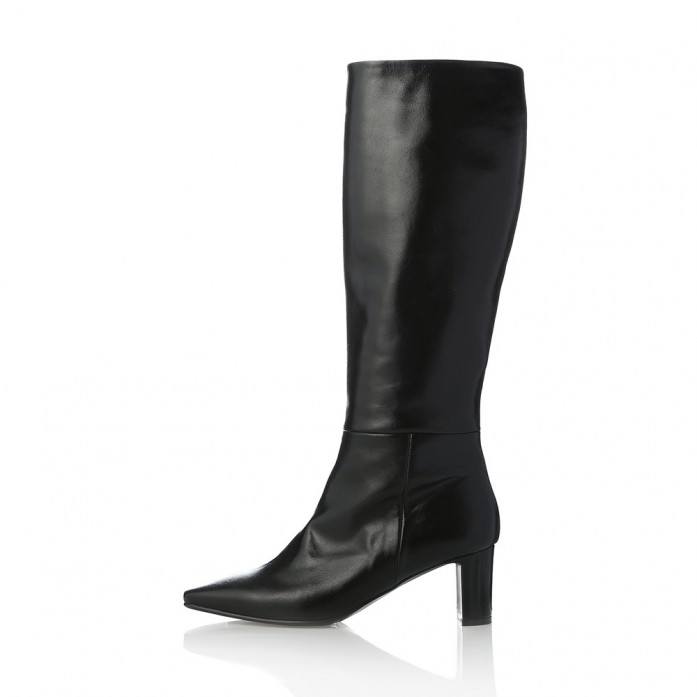 Square Toe Long Boots MD20FW1075-Black